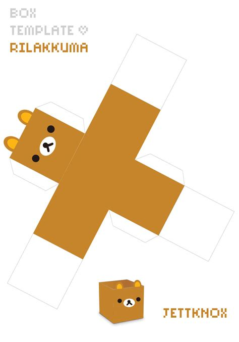Papercraft Box Template - box template rilakkuma by jettknox on deviantart