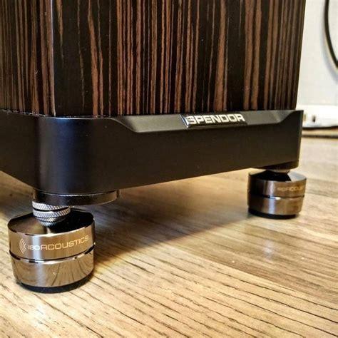 isoacoustics gaia  speaker isolators  pack dark