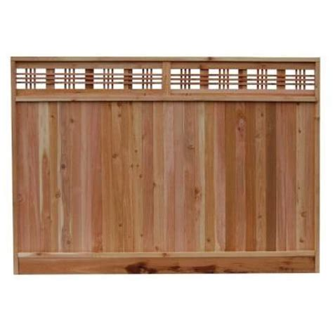 6 ft x 8 ft western cedar horizontal lattice top