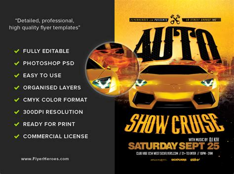 Auto Show Flyer Template 2 Flyerheroes Show Templates