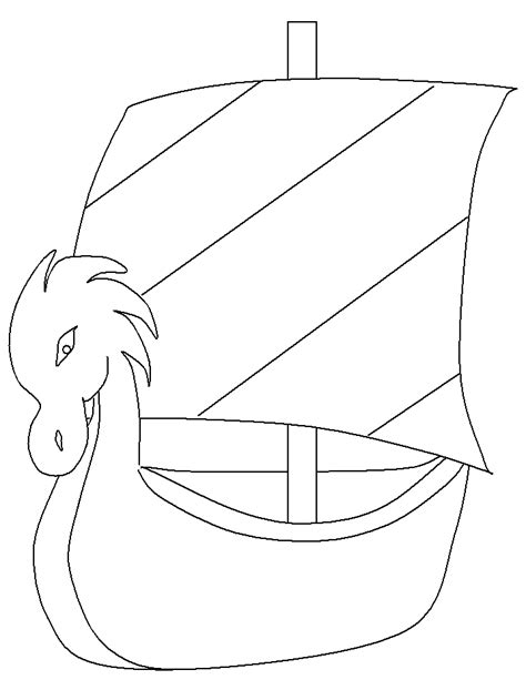 free viking long ship coloring pages