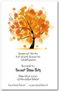 autumn maple tree invitation fall invitations