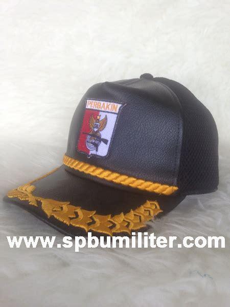 Topi Rimba Loreng Perbakin Au topi perbakin dobel bahan kulit padu jaring spbu militer