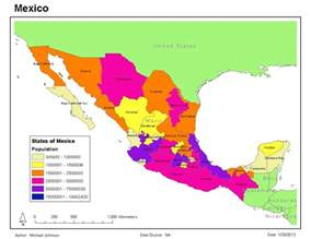 Map Of States Of Mexico by Gis 2013 Maps Of Mexico Gis 4043 Week 3