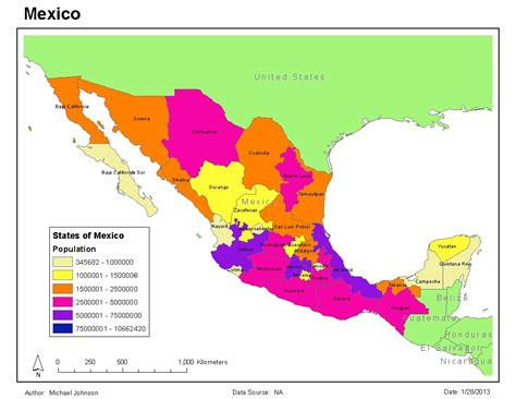 mexico in the map gis 2013 maps of mexico gis 4043 week 3