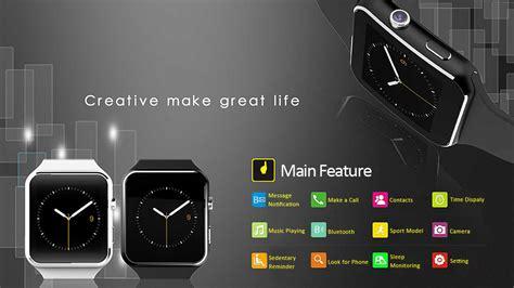 Smartwatch X6 smart qw x6 sim card wrist for android ios