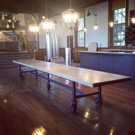 crafted communal dining table by dso creative