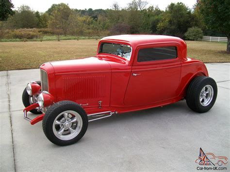 Window Seat With Radiator - 1932 ford 3 window coupe viper red