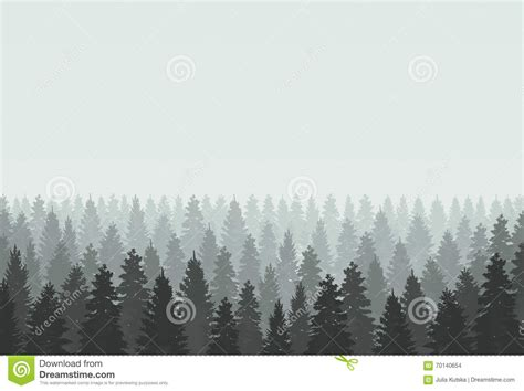 forest template coniferous forest silhouette template vector illustration