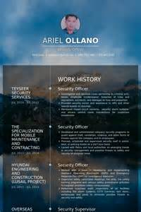 Security Officer Resume Template by Security Officer Resume Sles Visualcv Resume Sles