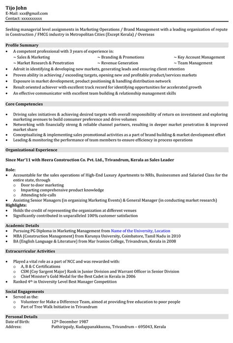 Type My Custom Essay On Founding Fathers by Sales Executive Cv Template Exle Marketing Executive