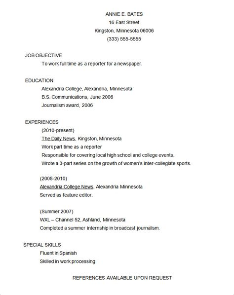 free functional resume templates functional resume