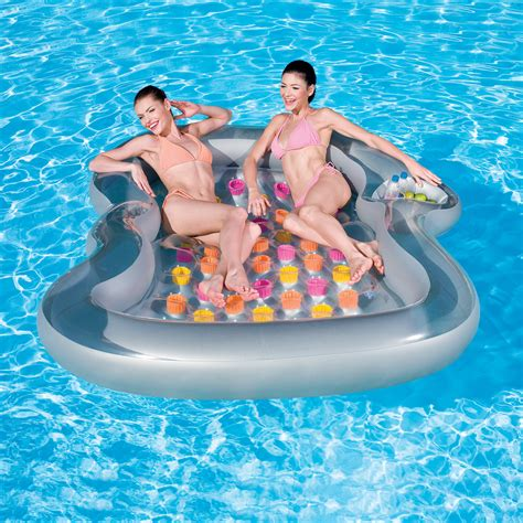 double designer inflatable pool lounge