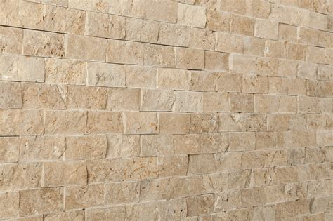 kesir travertine mosaic stacked stone brick series noce