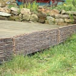 bordure pliable rotin osier 95cm en acier bordure de jardin