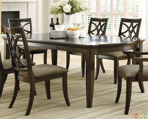 espresso dining room set meredith contemporary 7 dining room table and chairs