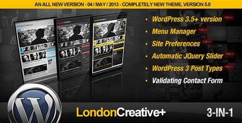 wp themes london plantillas wordpress london creative portfolio blog