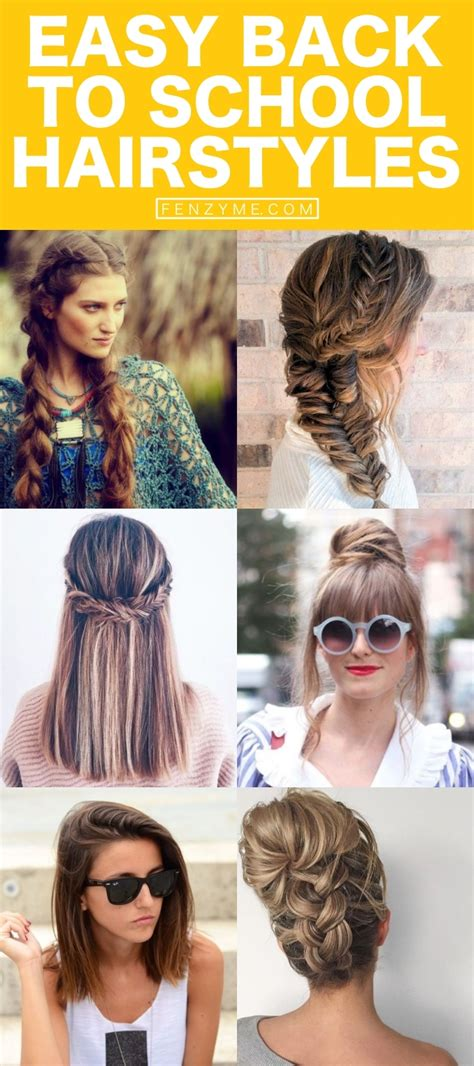 quick and simple back to school hairstyles 65 quick and easy back to school hairstyles for 2017