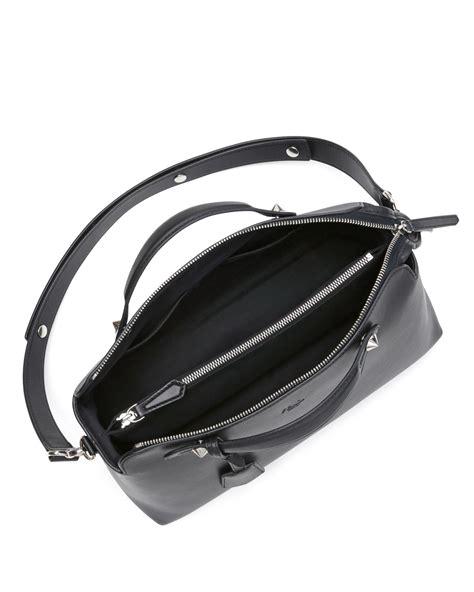 Fendi By The Way Satchel Hardware Silver Like Ori Leather 10121p 5 fendi by the way medium leather satchel bag in black lyst