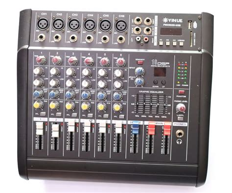 Power Mixer Audio Seven pro 1000w 6 channel mixing console power lifier live