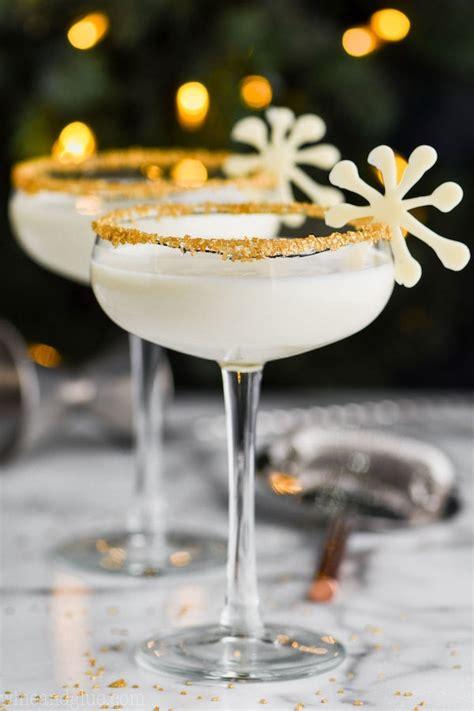 white christmas martini wine glue