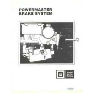 Brake System Maintenance Pdf Gm Powermaster Brake System Shop Service Repair Workshop