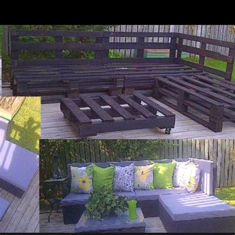 How To Make Patio Furniture Out Of Wood Pallets Pallet Garden Furniture Interior Design Decor