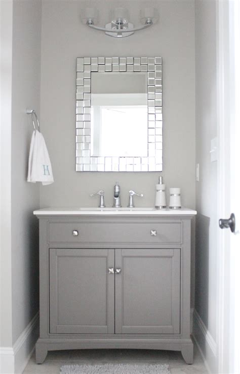 Grey Bathroom Vanity Cabinet Home Of The Month Lake House Sources Simple Stylings