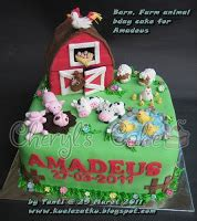 kue ulang  anak cupcake birthday cake barn