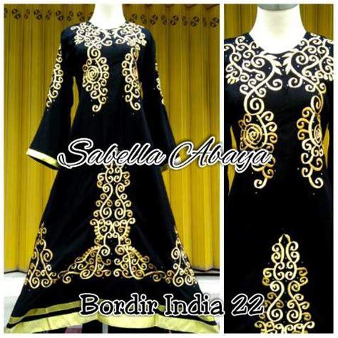 Baju Gamis Abaya Saudi Bordir baju gamis arab terbaru abaya bordir india 22 baju gamis