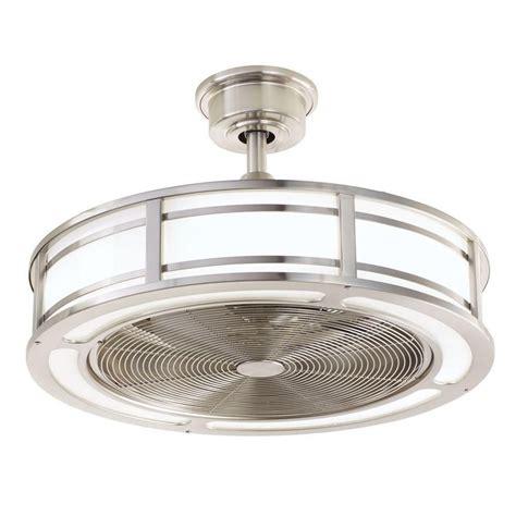 brette 23 in led indoor outdoor brushed nickel ceiling fan home decorators collection brette 23 in led indoor