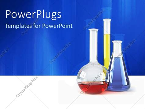 template ppt laboratory free powerpoint template three vials lab test tubes with