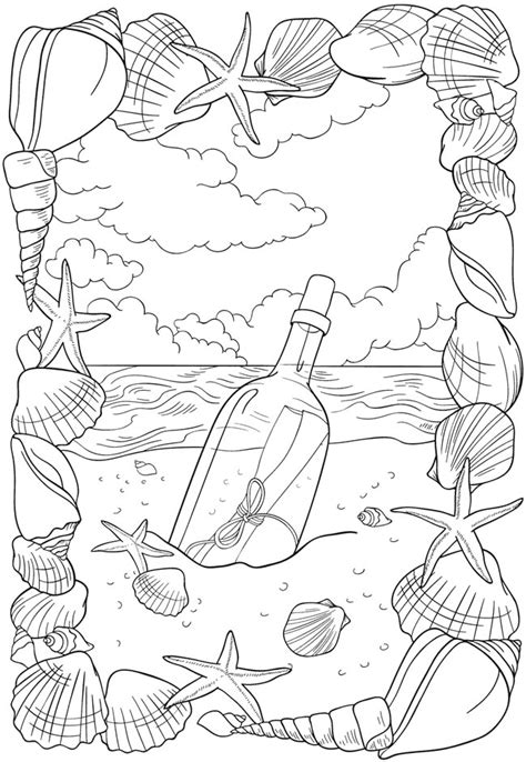 coloring page bliss welcome to dover publications bliss seashore coloring