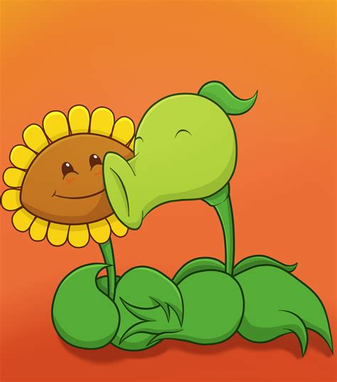 imagenes hot flor peña peashooter and sunflower by antixi on deviantart
