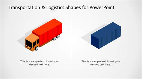 logistics powerpoint template transportation logistics shapes for powerpoint slidemodel