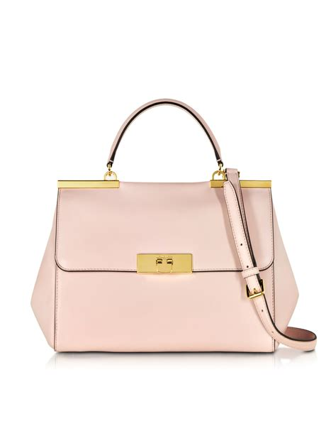 Mk Office Bag Bn6866 2 lyst michael kors marlow large leather satchel bag in pink