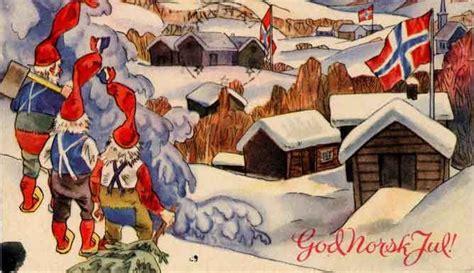 god norsk jul  christmas illustration   norwegian flag norwegian christmas pinterest