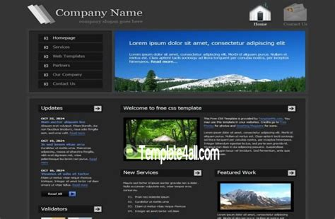 green gray business css template