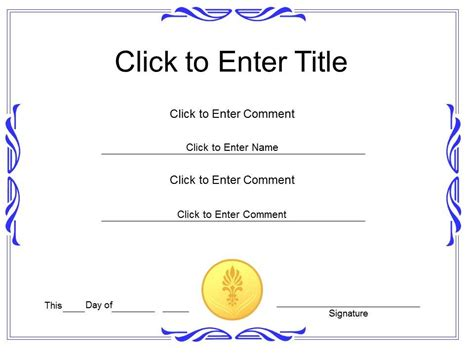 Award Recognition Diploma Certificate Template Of Achievement Completion Powerpoint For Adults Powerpoint Certificate Templates Free