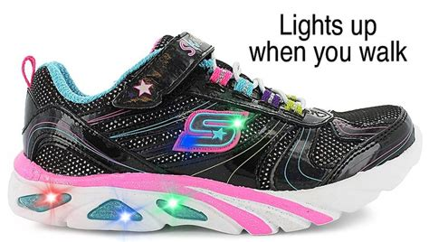 Sketcher Light Ups by Dramatic Skechers 174 Light Up Shoes Combination Leather And