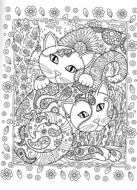 kitten coloring pages for adults adult coloring cats on pinterest gatos dover