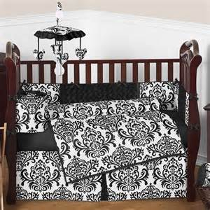black and white 9 pc crib set by sweet jojo designs by