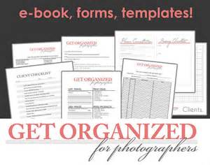 Photography Business Forms Templates Designorganized Get Organized For Photographers