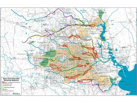texas bayou map 150 of hike and bike trails on the way after council approval culturemap houston