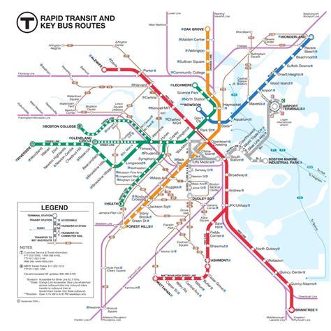 boston transit map maps april 2012