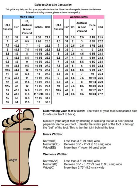 printable shoe size chart pdf 8 best images of printable o ring size chart ear gauge