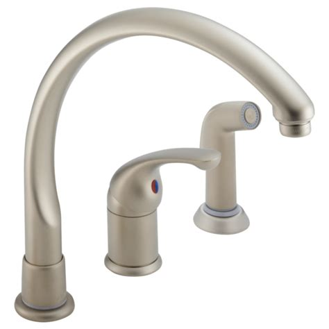 waterfall kitchen faucet delta single lever waterfall kitchen faucet model 172