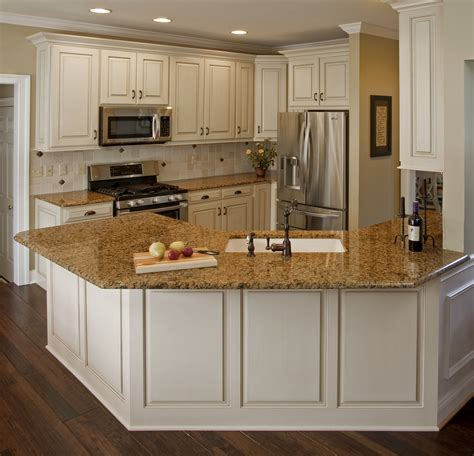 White Kitchen Cabinets With Brown Granite Countertops And White Kitchen Cabinets With Countertops
