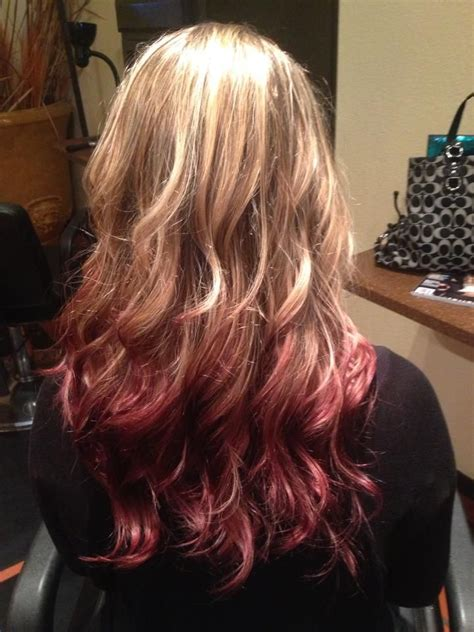 reverse ombre photos red reverse ombre done by kirsten penny work by kirsten