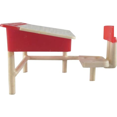 Hold It Furniture by Hold Toys Plastic School Desk Dollhouse